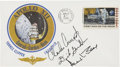 Autographs:Celebrities, Apollo 12 Crew-Signed Insurance Cover from the Personal Collectionof Mission Support Crew Member Paul Weitz....