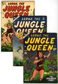 Golden Age (1938-1955):Adventure, Lorna The Jungle Girl #2, 4, and 5 Group (Atlas, 1953-54).... (Total: 3 Comic Books)