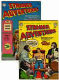 Golden Age (1938-1955):Science Fiction, Strange Adventures Group (DC, 1954) Condition: Average FN....(Total: 2 Comic Books)