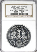 Expositions and Fairs, 1893 Ferris Wheel Dollar, MS65 Prooflike NGC....
