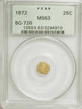 California Fractional Gold: , 1872 25C Liberty Octagonal 25 Cents, BG-726, High R.5, MS63 PCGS.PCGS Population (6/5). (#10553). F...