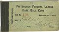 Baseball Collectibles:Tickets, Pittsburgh Federal League Baseball Club Booklet...