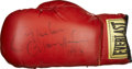 Boxing Collectibles:Autographs, Marvin Hagler Signed Boxing Glove....