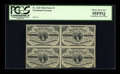 Fractional Currency:Third Issue, Fr. 1226 3c Third Issue Block of Four PCGS Choice About New 55PPQ....