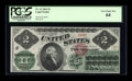 Large Size:Legal Tender Notes, Fr. 41 $2 1862 Legal Tender PCGS Very Choice New 64....