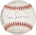 Autographs:Baseballs, 1997 Hall Of Fame Induction Signed Baseball. ...