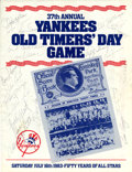 Autographs:Others, 1983 New York Yankees Old Timers' Day Multi-Signed Program....