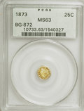 California Fractional Gold: , 1873 25C Indian Round 25 Cents, BG-872, R.5, MS63 PCGS. PCGSPopulation (10/21). (#10733). From The ...
