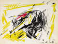 Fine Art - Painting, American:Contemporary   (1950 to present)  , ELAINE DE KOONING (American, 1919-1989). Untitled. Screenprint in colors on paper. 17 x 23 inches (43.2 x 58.4 cm). Prin...