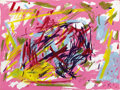 Fine Art - Painting, American:Contemporary   (1950 to present)  , ELAINE DE KOONING (American, 1919-1989). Untitled.Screenprint in colors on paper. 17 x 23 inches (43.2 x 58.4 cm).Prin...