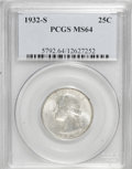 Washington Quarters: , 1932-S 25C MS64 PCGS. PCGS Population (900/96). NGC Census:(489/59). Mintage: 408,000. Numismedia Wsl. Price for NGC/PCGS ...