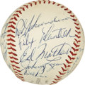 Autographs:Baseballs, 1958 Milwaukee Braves Team Signed Baseball....