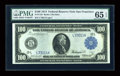 Large Size:Federal Reserve Notes, Fr. 1128 $100 1914 Federal Reserve Note PMG Gem Uncirculated 65 EPQ....