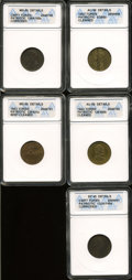 Civil War Patriotics, Patriotic Civil War Token Lot.... (Total: 5 tokens)