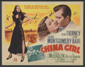 "Movie Posters:War, China Girl (20th Century Fox, 1942). Autographed Title Lobby Card(11"" X 14""). War...."