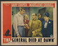 "Movie Posters:Adventure, The General Died at Dawn (Paramount, 1936). Lobby Card (11"" X 14"").Adventure...."