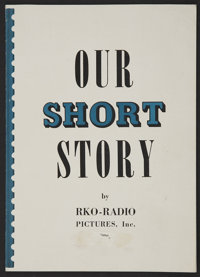 "RKO Radio Shorts Exhibitor's Book (RKO, 1938). Mini Exhibitor's Book (6"" X 8"") ""Our Short Story.""..."