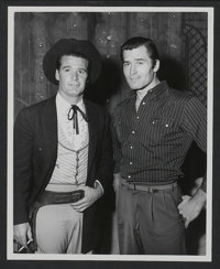 "Maverick (Warner Brothers Television, 1957). James Garner and Clint Walker Publicity Still (8"" X 10""). Western..."
