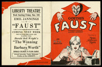 "Faust (MGM, 1926). Herald (5.75"" X 8.75""). Fantasy"