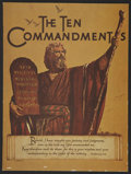"""Movie Posters:Historical Drama, The Ten Commandments (Paramount, 1956). Programs (2) (9"""" X 12""""& 12.5"""" X 9""""). Historical Drama.... (Total: 2 Items)"""