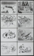 """Movie Posters:Animated, The Night Before Christmas (United Artists, 1933). Publicity Stills(8) (8"""" X 10""""). Animated.... (Total: 8 Items)"""