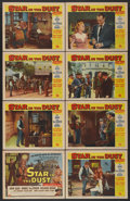 "Movie Posters:Western, Star in the Dust (Universal, 1956). Lobby Card Set of 8 (11"" X 14""). Western.... (Total: 8 Items)"