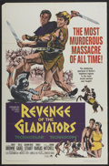 "Movie Posters:Action, Revenge of the Gladiators (American International, 1964). One Sheet (27"" X 41""). Action...."
