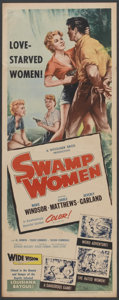 """Movie Posters:Crime, Swamp Women (Woolner Brothers, 1956). Insert (14"""" X 36"""") and LobbyCards (4) (11"""" X 14""""). Crime.... (Total: 5 Items)"""