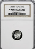 Proof Roosevelt Dimes: , 2001-S 10C Silver PR70 Ultra Cameo NGC. PCGS Population (97/0).Numismedia Wsl. Price for NGC/PCGS coin...