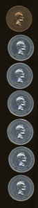 U.S. Presidents & Statesmen, Seven Thomas Elder Lincoln Tokens.... (Total: 7 pieces)