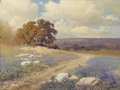 Paintings, ROBERT WILLIAM WOOD (American, 1889-1979). Bluebonnets Near San Angelo. Oil on canvas. 17-1/2 x 23-1/2 inches (44.5 x 59...