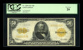 Large Size:Gold Certificates, Fr. 1200 $50 1922 Gold Certificate PCGS Very Fine 20....