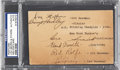 Autographs:Post Cards, 1936 New York Yankees Signed Government Postcard with LouGehrig....