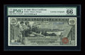 Large Size:Silver Certificates, Fr. 224 $1 1896 Silver Certificate Courtesy Autographed PMG Gem Uncirculated 66 EPQ....