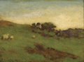 Fine Art - Painting, European:Antique  (Pre 1900), JOSEPH KNIGHT (British, 1837-1909). Landscape with Sheep,1871. Oil on artist's board. 9 x 10-1/2 inches (22.9 x 26.7 cm...