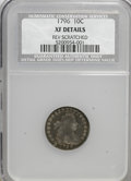 Early Dimes, 1796 10C --Rev Scratched--XF40 NCS. XF Details. NGC Census:(12/148). PCGS Population (11/130). Mintage: 22,135. Numismedia ...