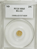 California Fractional Gold: , Undated 25C Liberty Round 25 Cents, BG-221, R.3, MS63 PCGS. PCGSPopulation (51/41). NGC Census: (9/5). (#10406). From ...