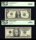 Small Size:Group Lots, Fr. 1931-K* $1 2003 Federal Reserve Note. PCGS Very Choice New 64PPQ.. Fr. 2086-L $20 1999 Federal Reserve Note. PCGS Gem New ... (Total: 2 notes)