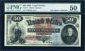 Large Size:Legal Tender Notes, Fr. 151 $50 1869 Legal Tender PMG About Uncirculated 50....