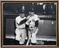 Autographs:Photos, Mickey Mantle Signed Photo With Casey Stengel....