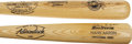 Autographs:Bats, Hank Aaron Signed Bat with Babe Ruth Commemorative Bat.... (Total:2 items)