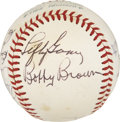 Autographs:Baseballs, New York Yankees Old Timers Multi-Signed Baseball....