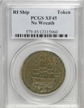 Colonials, 1778-1779 TOKEN Rhode Island Ship Token, No Wreath, Copper XF45PCGS....