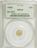 California Fractional Gold: , 1865 25C Liberty Round 25 Cents, BG-803, High R.5, MS63 PCGS. PCGSPopulation (8/5). NGC Census: (0/1). (#10664). From ...