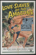 "Movie Posters:Adventure, Love Slaves of the Amazons (Universal, 1957). One Sheet (27"" X 41"")and Still Set of 8 (8"" X 10""). Adventure.... (Total: 9 Items)"