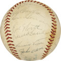 Autographs:Baseballs, 1973 Oakland Athletics Team Signed Baseball....