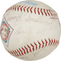 Autographs:Baseballs, Negro League Stars Multi-Signed Baseball with Buck O'Neil....