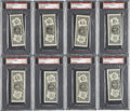 Baseball Cards:Lots, 1962 Topps Baseball Bucks PSA Graded Group Lot of 8.... (Total: 8cards)