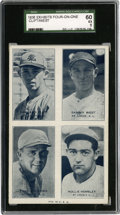 Baseball Cards:Singles (1930-1939), 1936 Four-on-One Exhibits Andrews/Clift/Helmsley/West SGC 60 EX5....