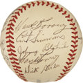 Autographs:Baseballs, 1949 Philadelphia Phillies Team Signed Baseball....